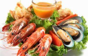 frutos do mar alimentos ricos em nutrientes