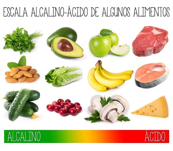 Os alimentos mais alcalinos e mais ácidos
