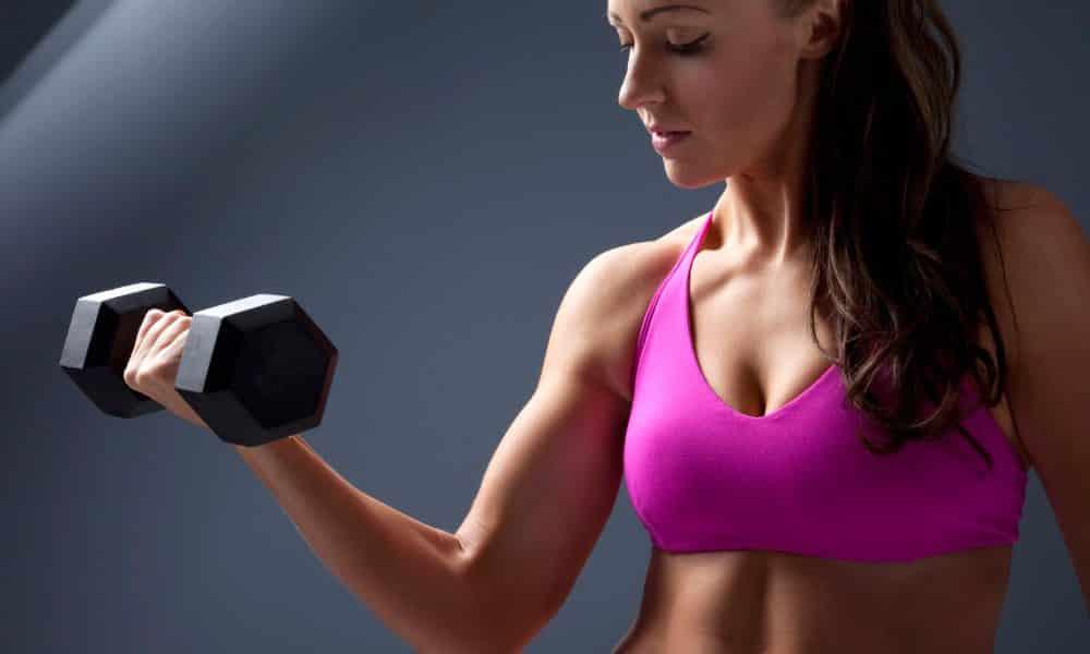 Exemplo de exercícios para eliminar a celulite nos braços