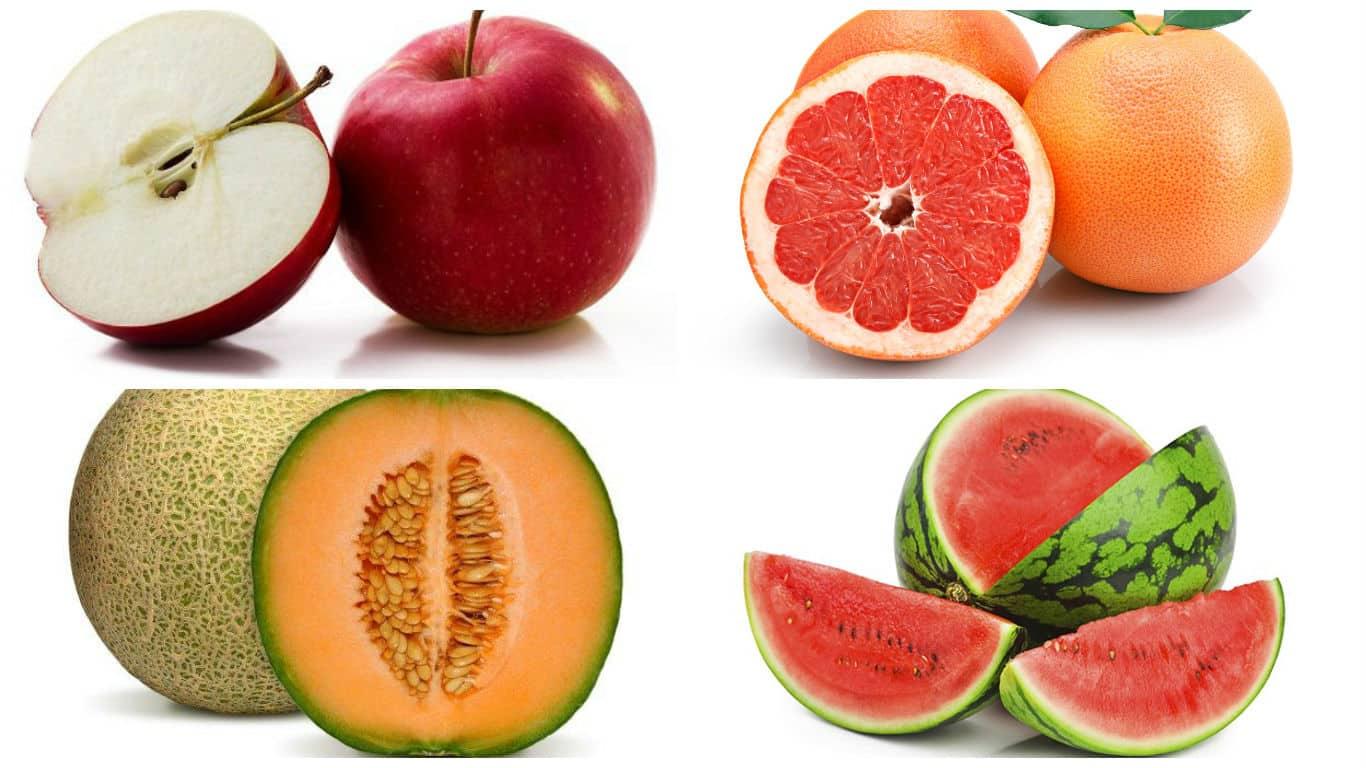 frutas alcalinas lista
