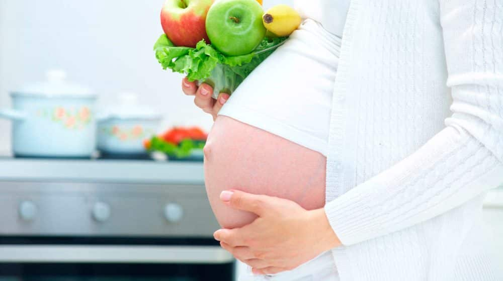 Foto de nutrição durante a gravidez contra a celulite
